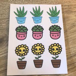Kawaii plants stickers